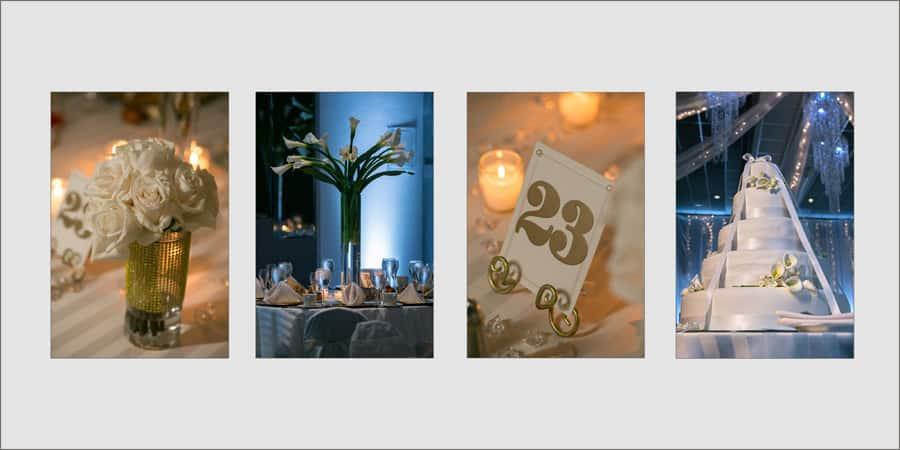 album page from wedding reception at landerhaven