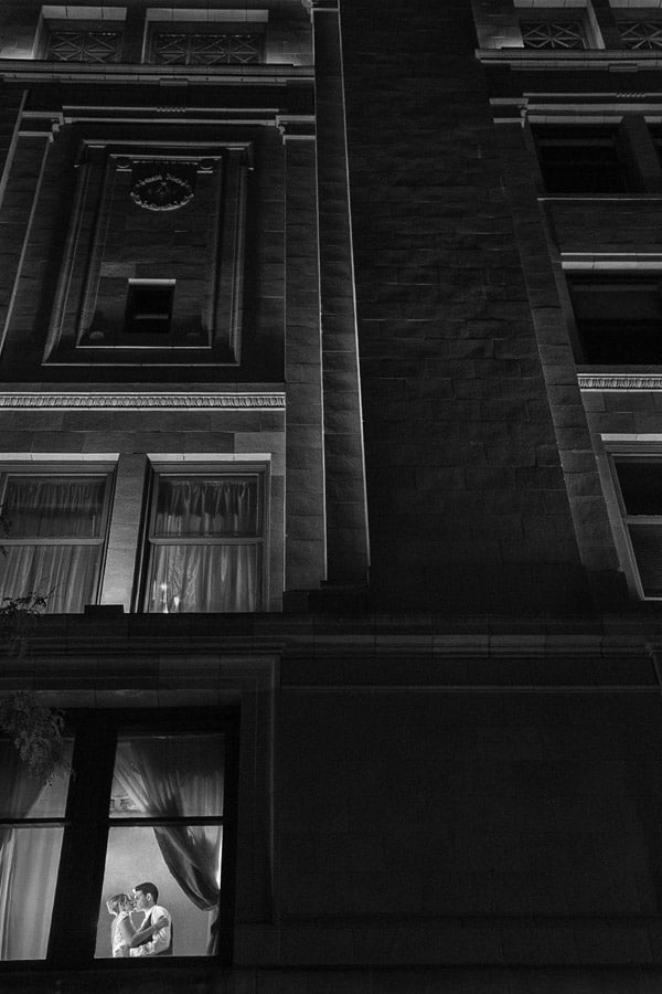 creative black and white picture at greystone hall akron