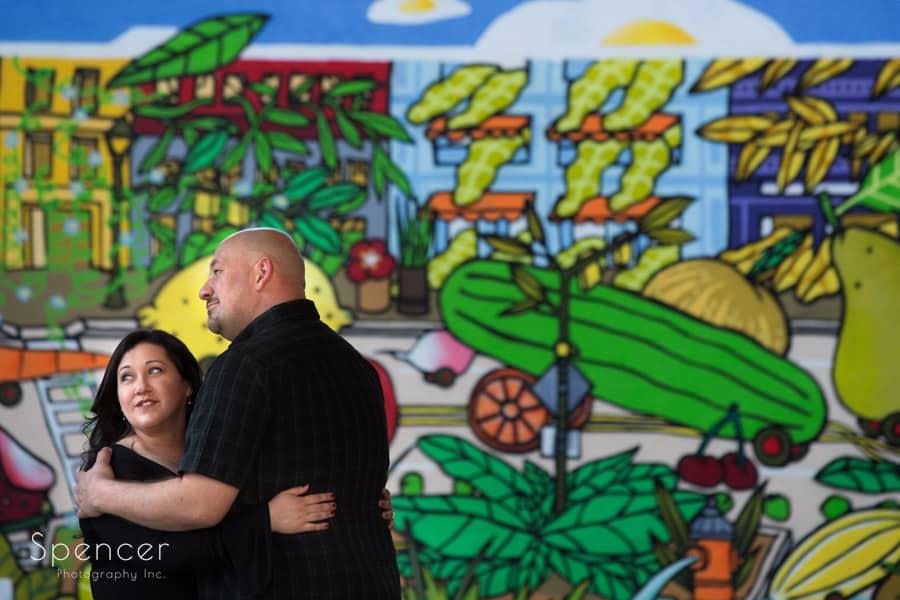 engagement photo at west side market cleveland