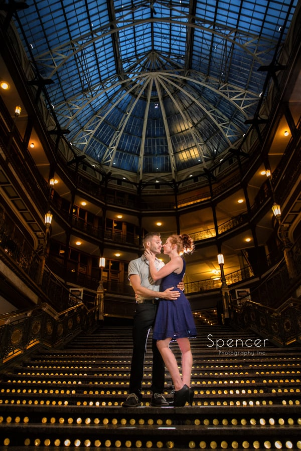 engagement picture at cleveland arcade