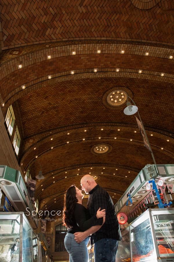 engagement pictures at cleveland west side market