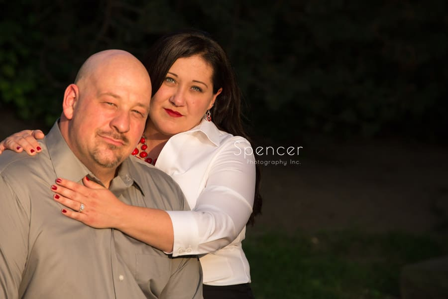 formal engagement picture at wade oval park