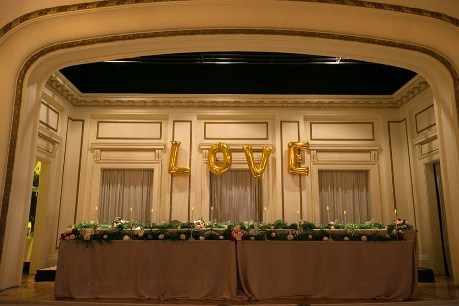 main stage at greystone hall wedding reception
