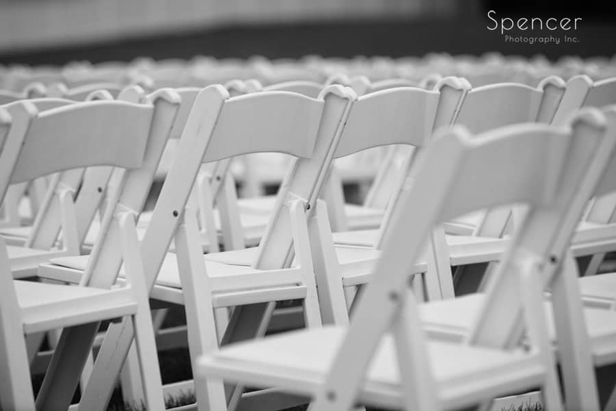 chairs set up for akron wedding