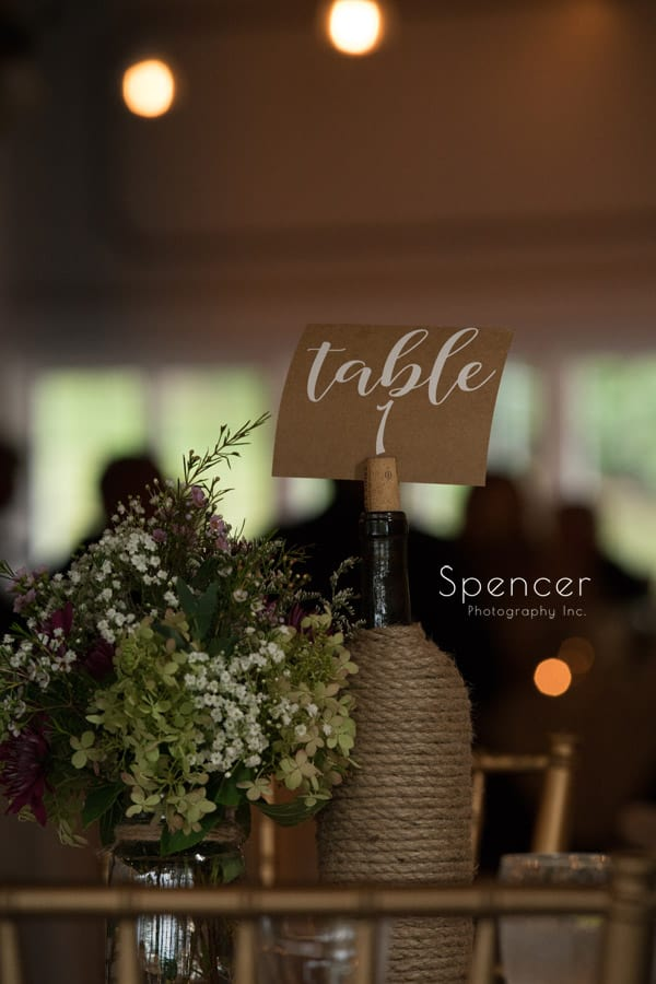 akron wedding reception table centerpiece at Occasions