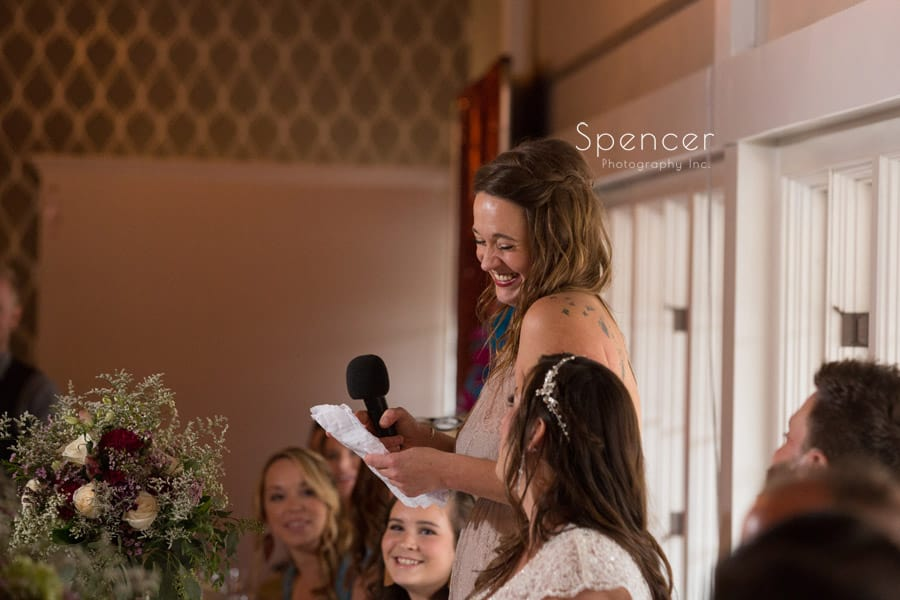 maid of honor speech at wedding reception in akron Ohio