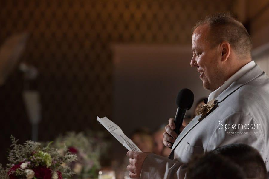best man speech at akron wedding reception