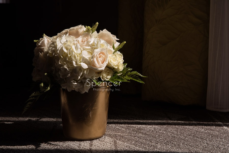 flowers on wedding day in Pittsburgh