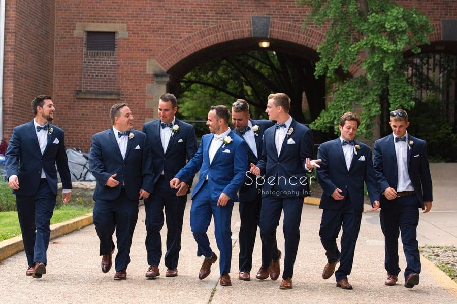 groomsmen at st. vincent basilica