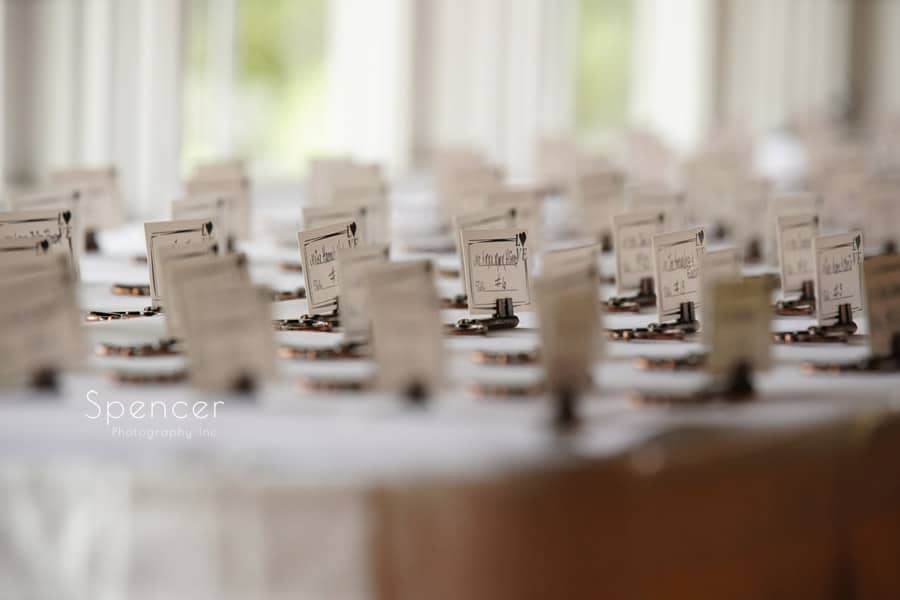 table placards at wedding reception in akron ohio