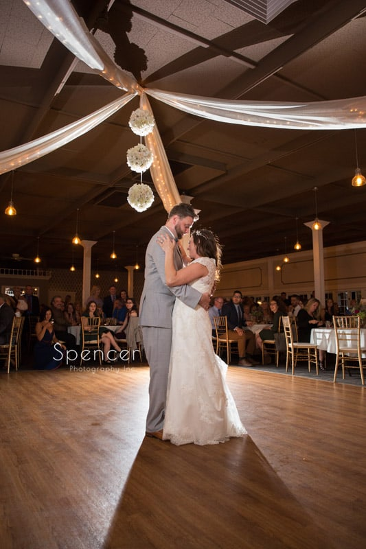 first dance at akron wedding reception