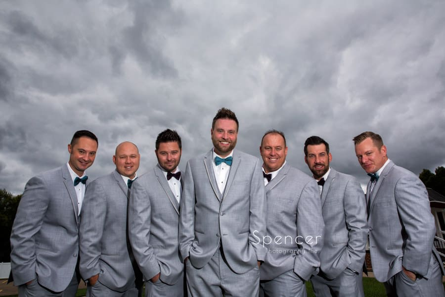 groomsmen at Occasions Party Center wedding