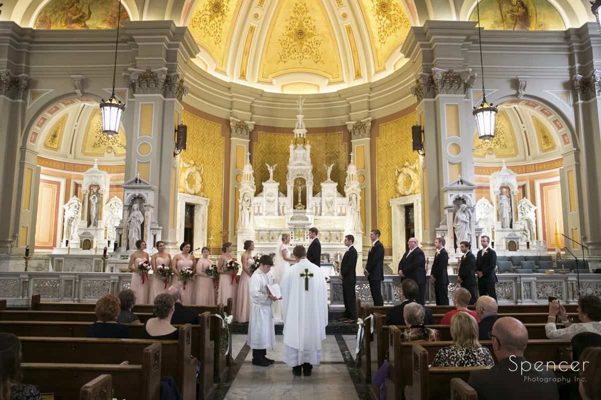 wedding ceremony at st colman cleveland