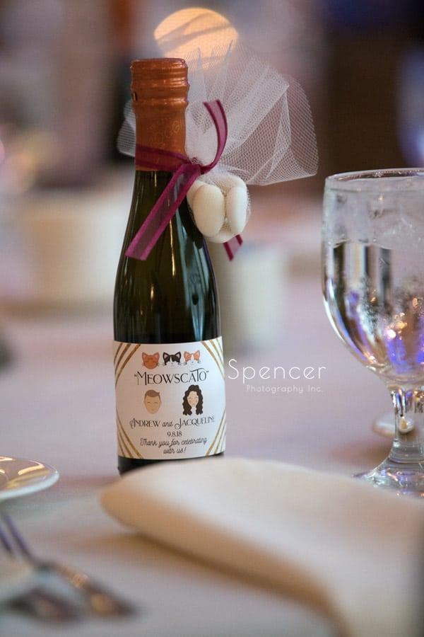 wedding reception favor at Greystone Hall Akron