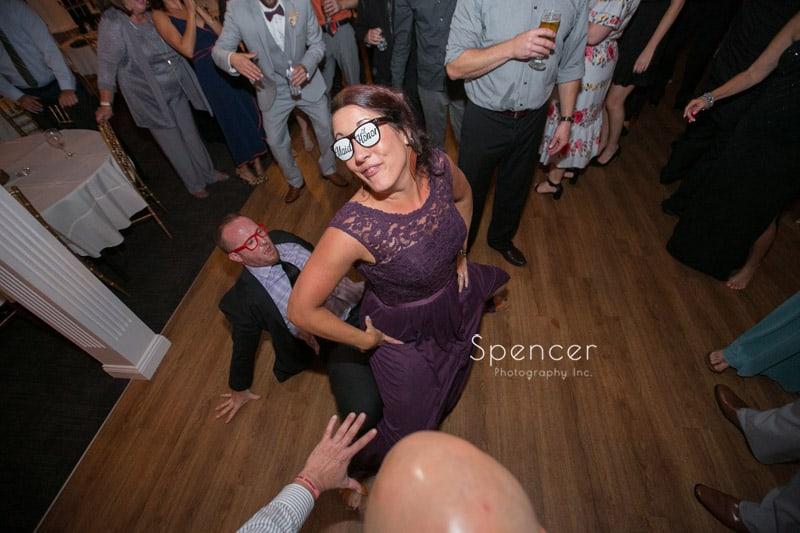 bridesmaid at akron wedding reception