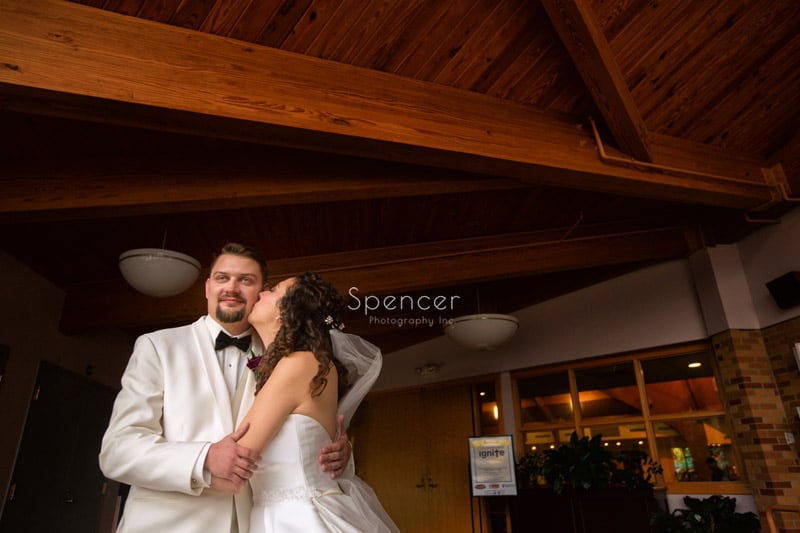 wedding portrait before wedding ceremony in Akron