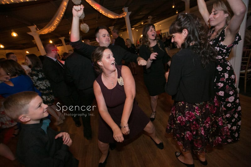 dancing at Occasions Party Center wedding reception