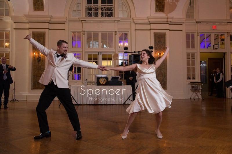 fancy dance steps at wedding reception Greystone Hall