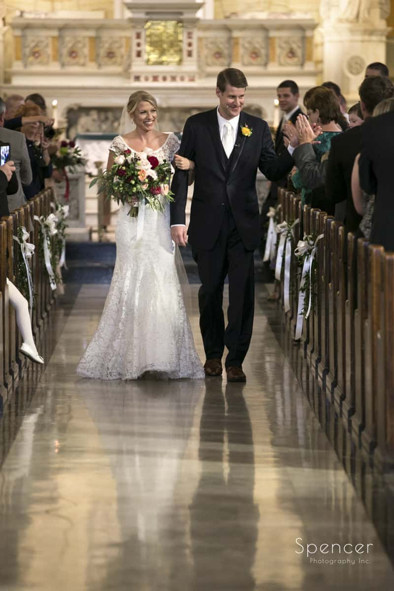 wedding ceremony recessional at st colman cleveland