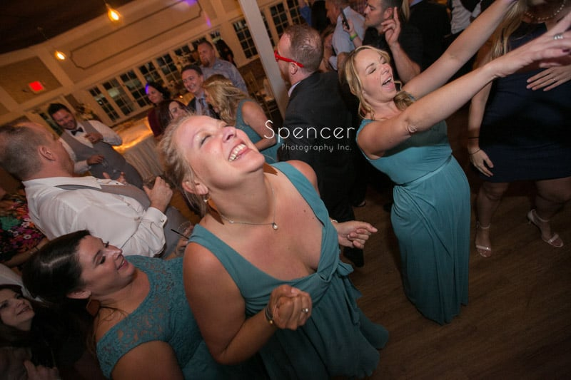 bridesmaid laughing at Occasions Party Center