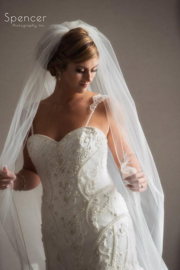 wedding day bridal portrait in Pittsburgh