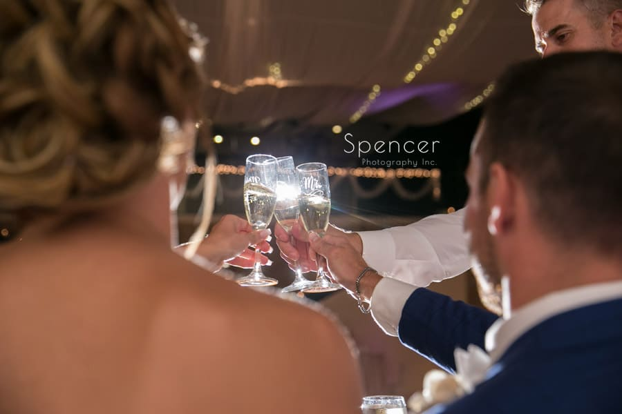 wedding reception toast at Antonelli Event Center reception