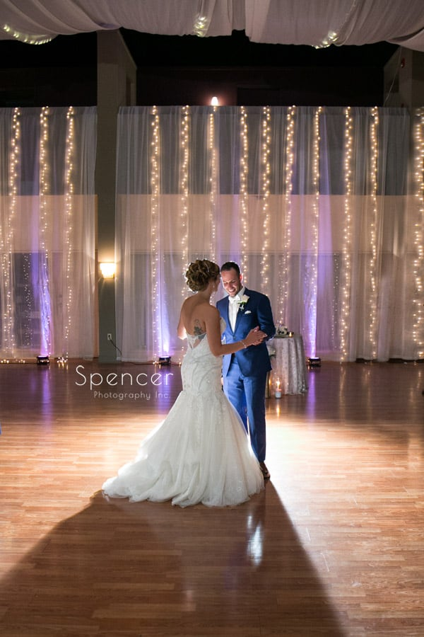 first dance at wedding reception at Antonelli Event Center