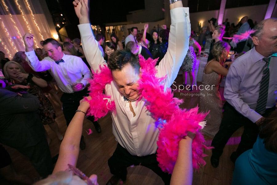 groomsmen dancing at Antonelli Event Center wedding reception