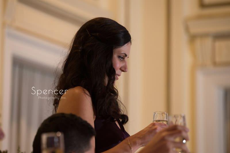 matron of honor speech at Greystone Hall wedding reception