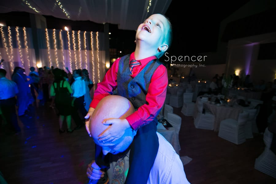 wedding guest having fun at Antonelli Event center reception