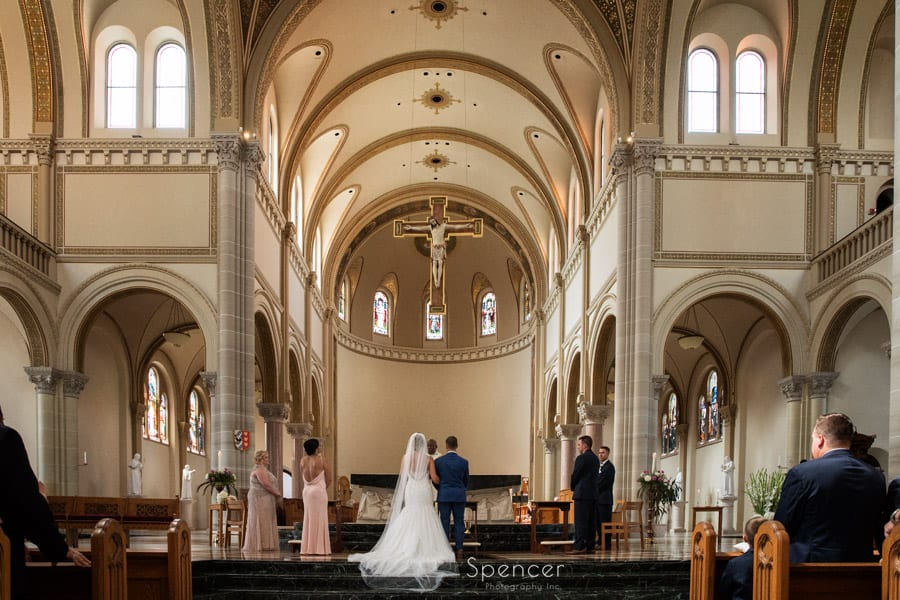 wedding picture at St. Vincent Basilica