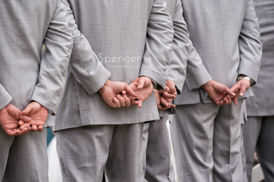 groomsmen at wedding ceremony at Occasions Party Center