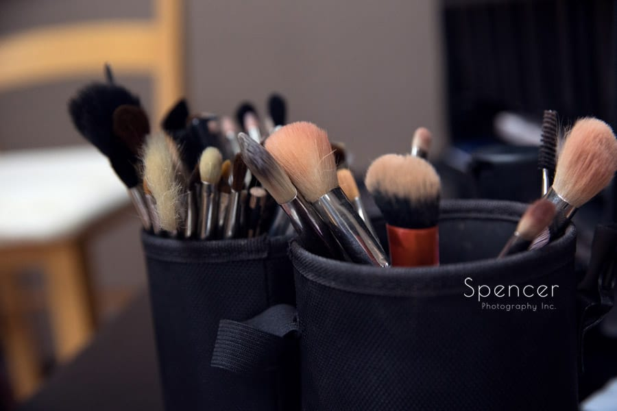 make up brushes before cleveland wedding