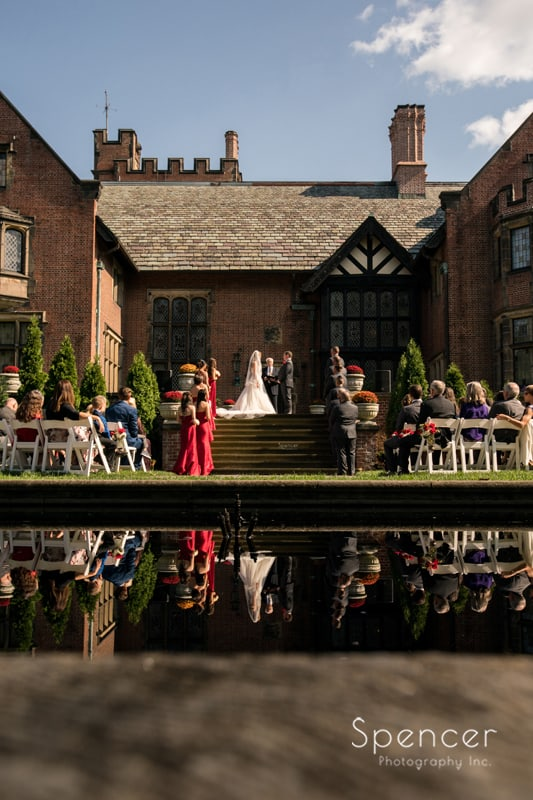 wedding ceremony at stan hywet