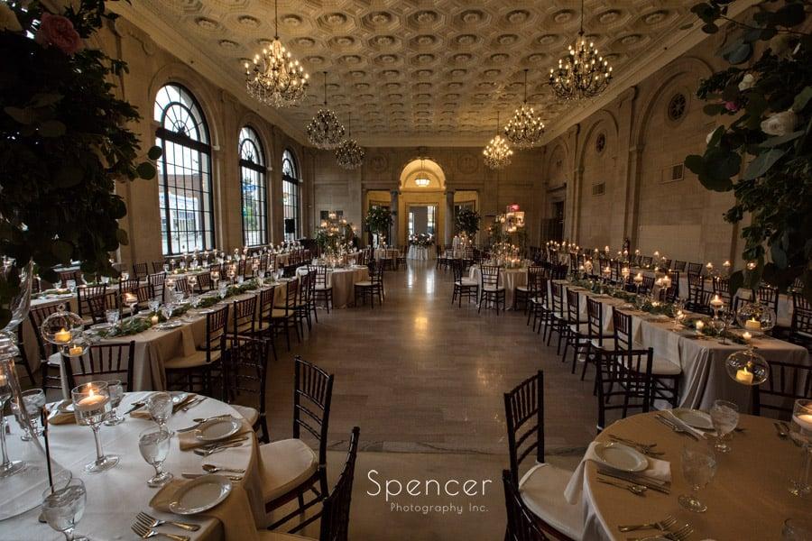 wedding reception set up at ariel pearl