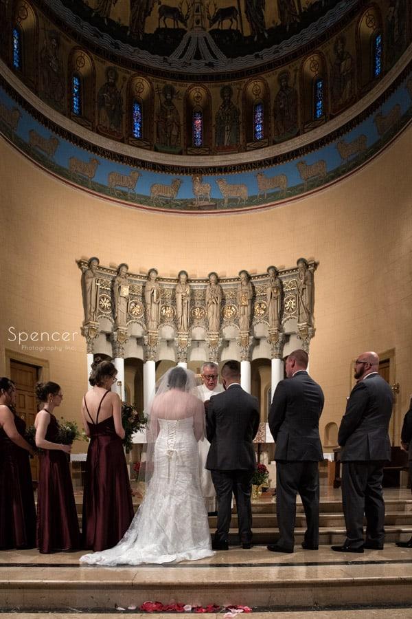 bridal party during wedding at St. Joseph Church