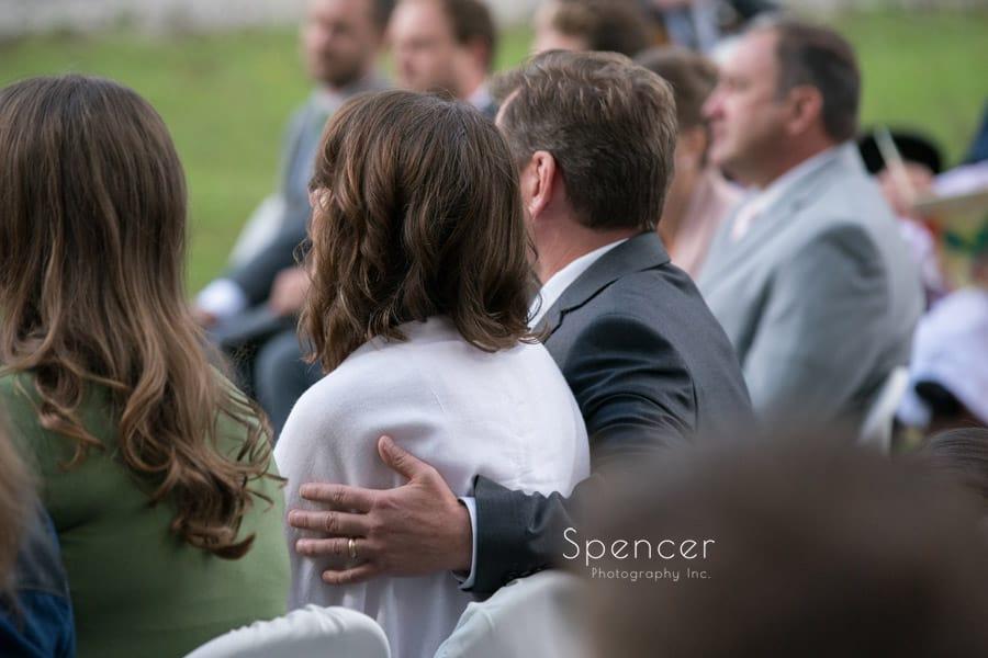 brides parents at wedding ceremony