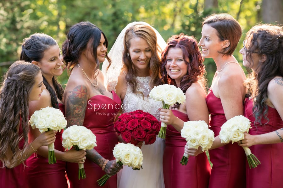 bridemaids at stan hywet wedding