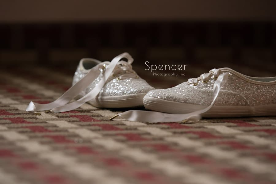 brides wedding day shoes