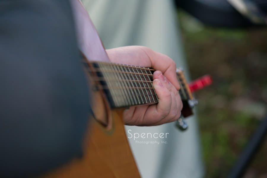 guitar at wedding ceremony