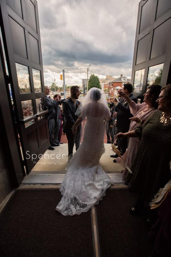 wedding send off at st joseph roman catholic