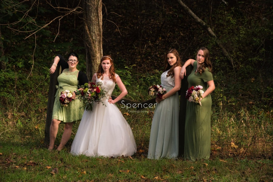 outdoor wedding pictures of bridesmaids