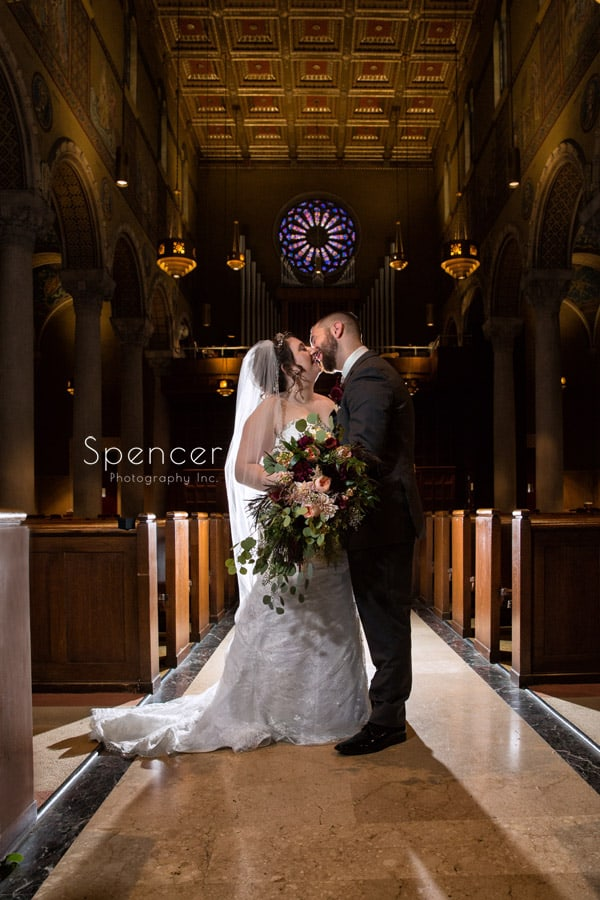 wedding day picture at st joseph roman catholic church