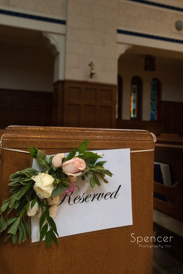 reserved sign at wedding ceremony st christopher cleveland