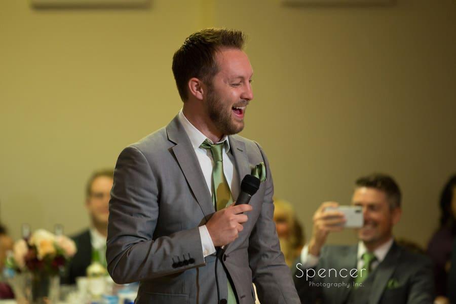 groomsmen speech at wedding ceremony