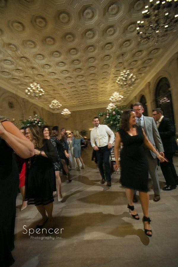 wedding reception fun at ariel pearl cleveland