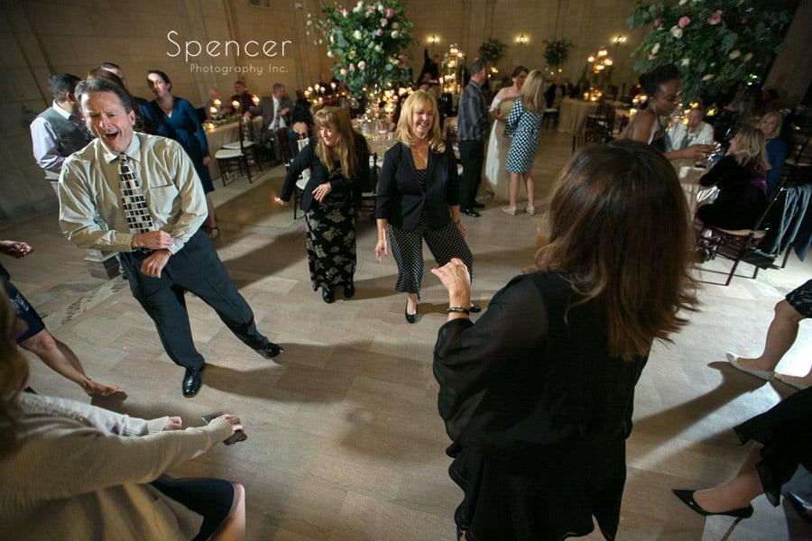 dancing at ariel pearl wedding reception