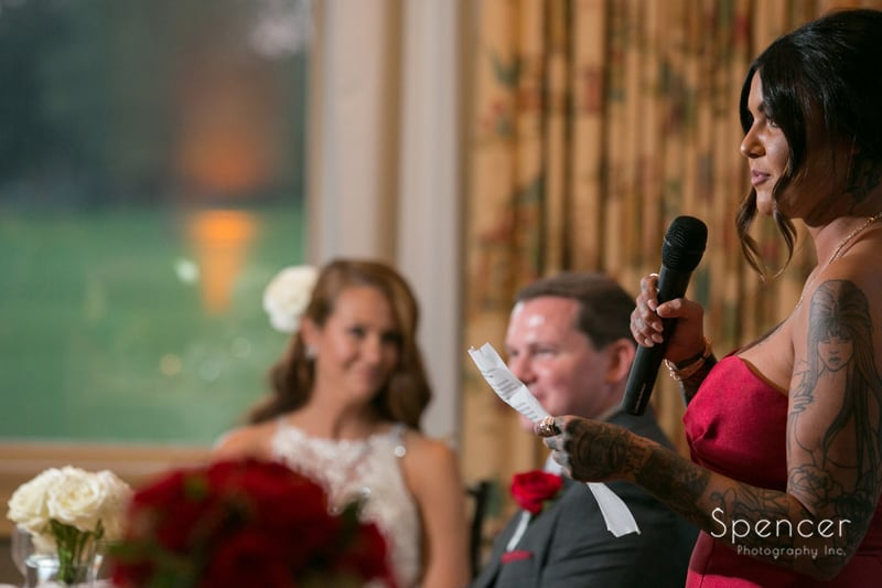 maid of honor speech at portage country club reception