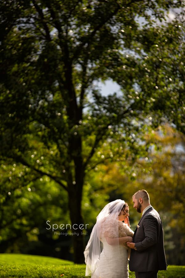bride and groom at shady hollow country club wedding reception