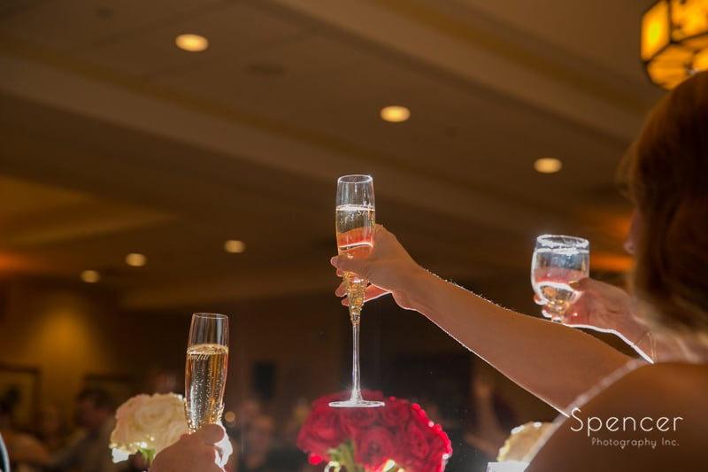 wedding toast at portage country club reception